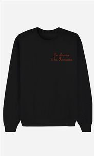 Black Sweatshirt Le Charme A La Française - embroidered