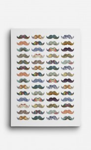 Canvas Moustache Mania