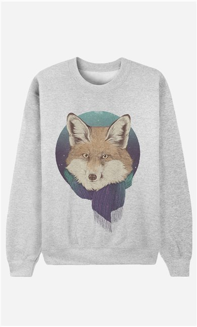 Sweatshirt Winter Fox