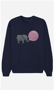 Blue Sweatshirt Jumbo Bubble Gum