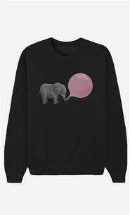 Black Sweatshirt Jumbo Bubble Gum