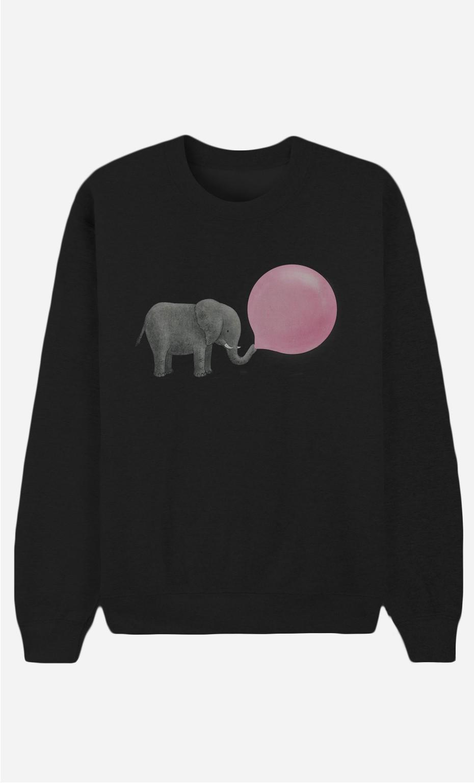 Black Sweatshirt Jumbo Bubble Gum