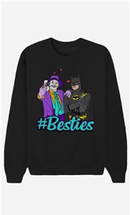 Black Sweatshirt Joker & Batman