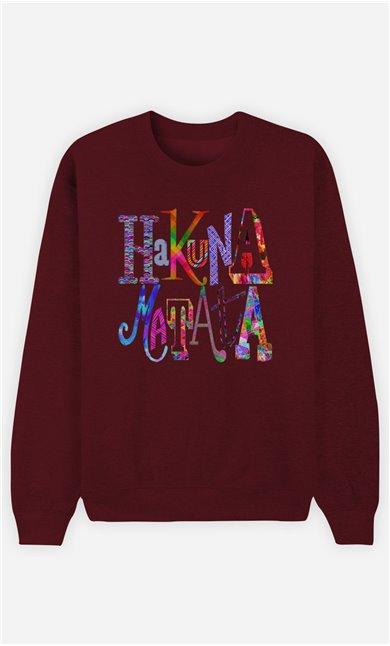 Burgundy Sweatshirt Hakuna Matata Color