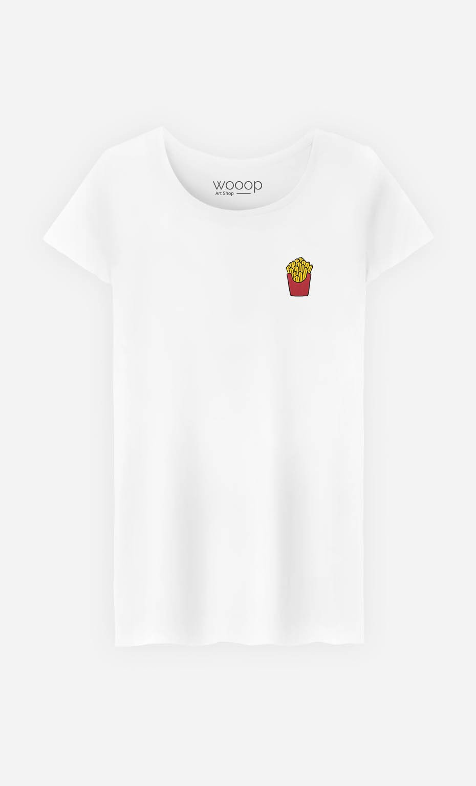 T-Shirt French Fries - embroidered