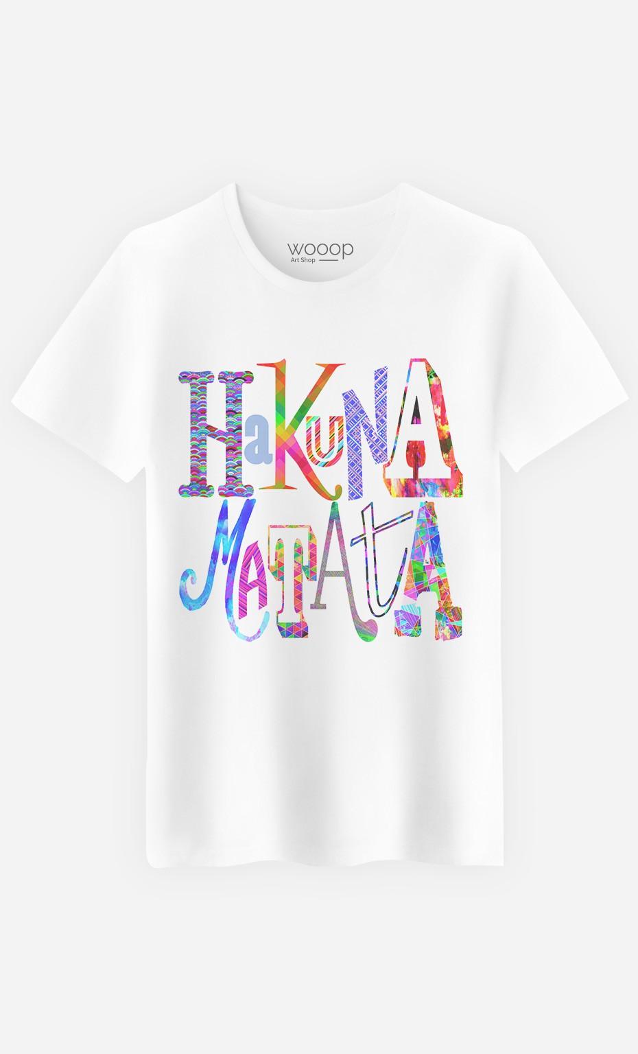 2aac4bc1 T-Shirt Hakuna Matata Color - Art Shop - Wooop.com