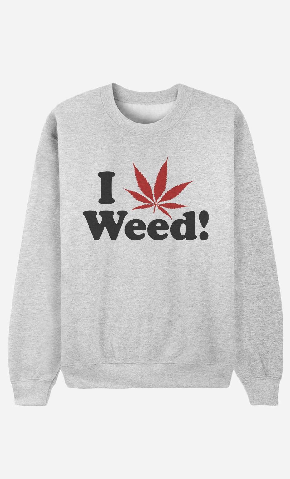 Sweatshirt Love Weed