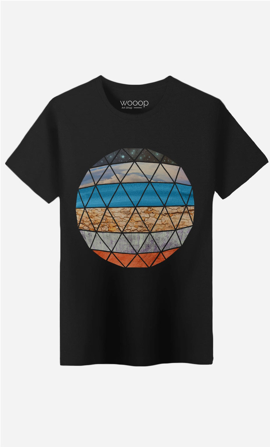 T-Shirt Natural Geodesic