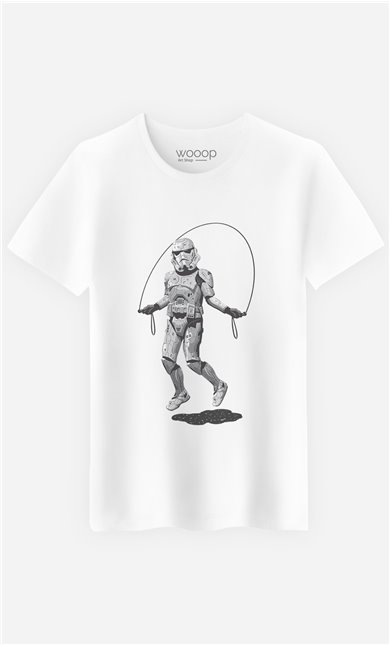 T-Shirt Stormtrooper Skipping