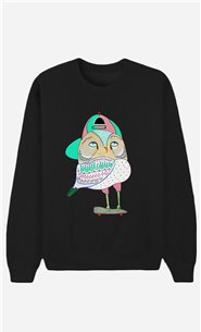 Black Sweatshirt Awesome Owl