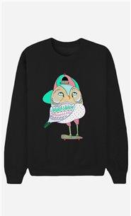 Black Sweatshirt Awesome Owl