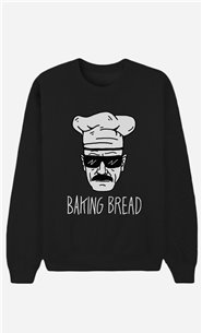 Black Sweatshirt Baking Bread