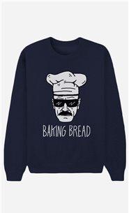 Blue Sweatshirt Baking Bread