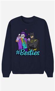 Blue Sweatshirt Joker & Batman