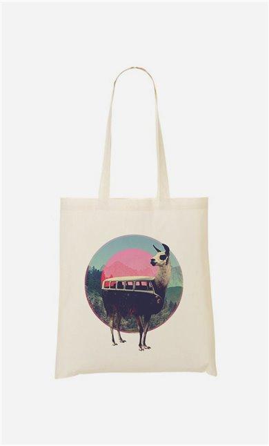 Tote Bag Llama Kombi