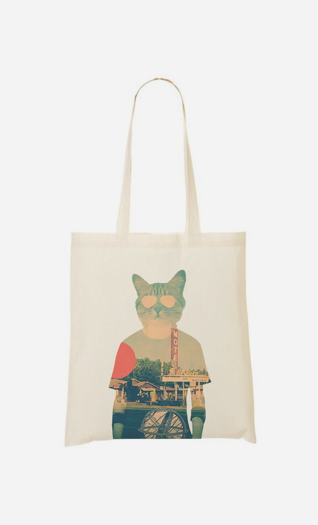 Tote Bag Cool Cat