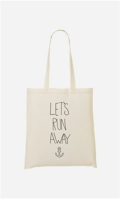 Tote Bag Let's Run Away
