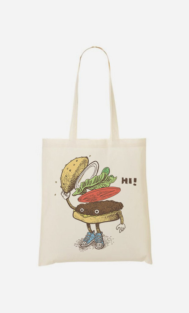 Tote Bag Burger Greeting