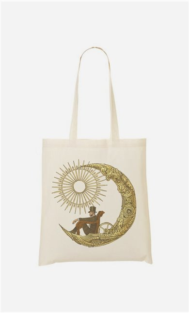 Tote Bag Moon Travel