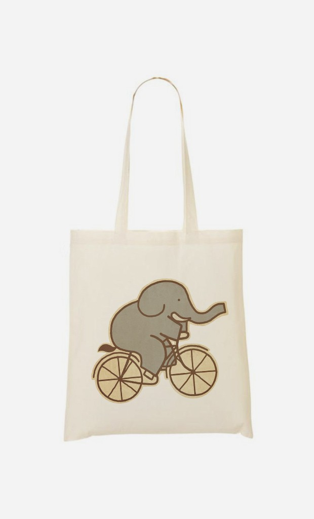Tote Bag Elephant Cycle