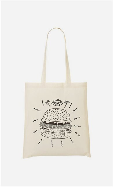 Tote Bag Burger Punk