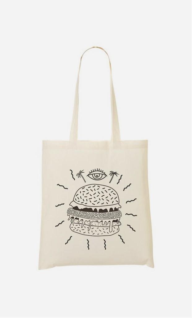 Tote Bag Burger Punk