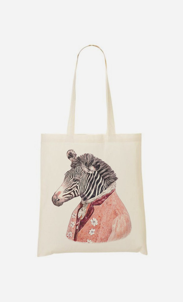 Tote Bag Zebra Cream