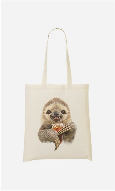 Tote Bag Sloth & Drink