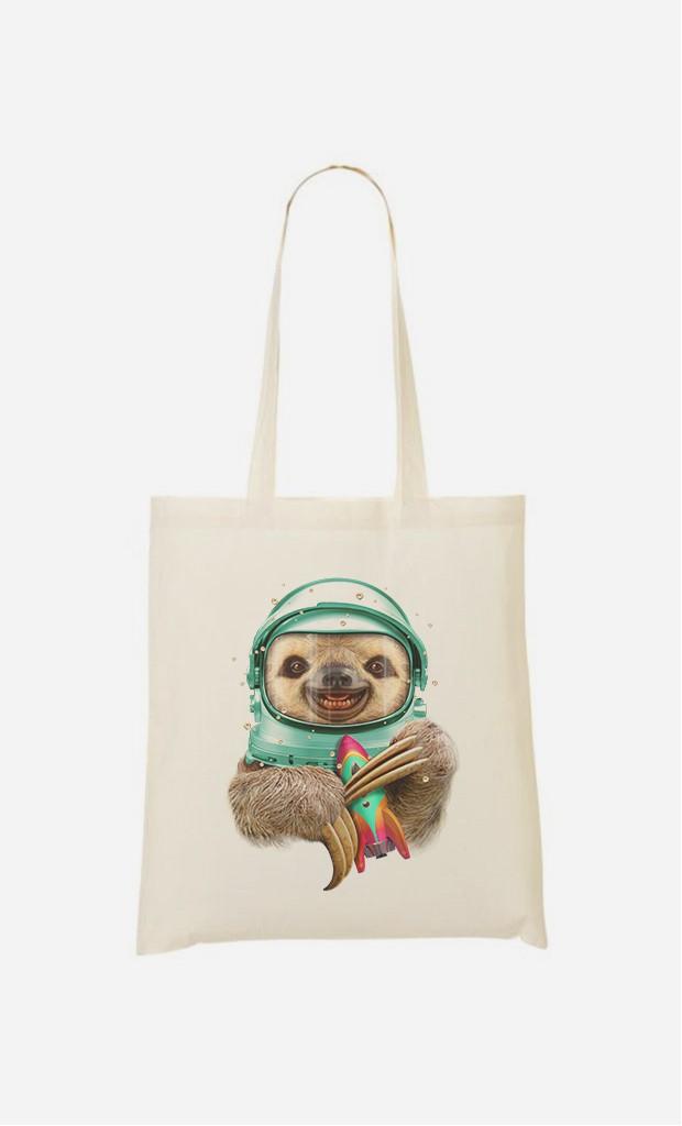 Tote Bag Space Sloth