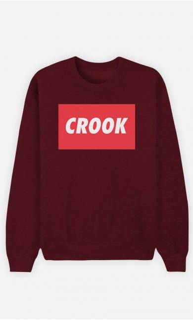 Burgundy Sweatshirt Crook