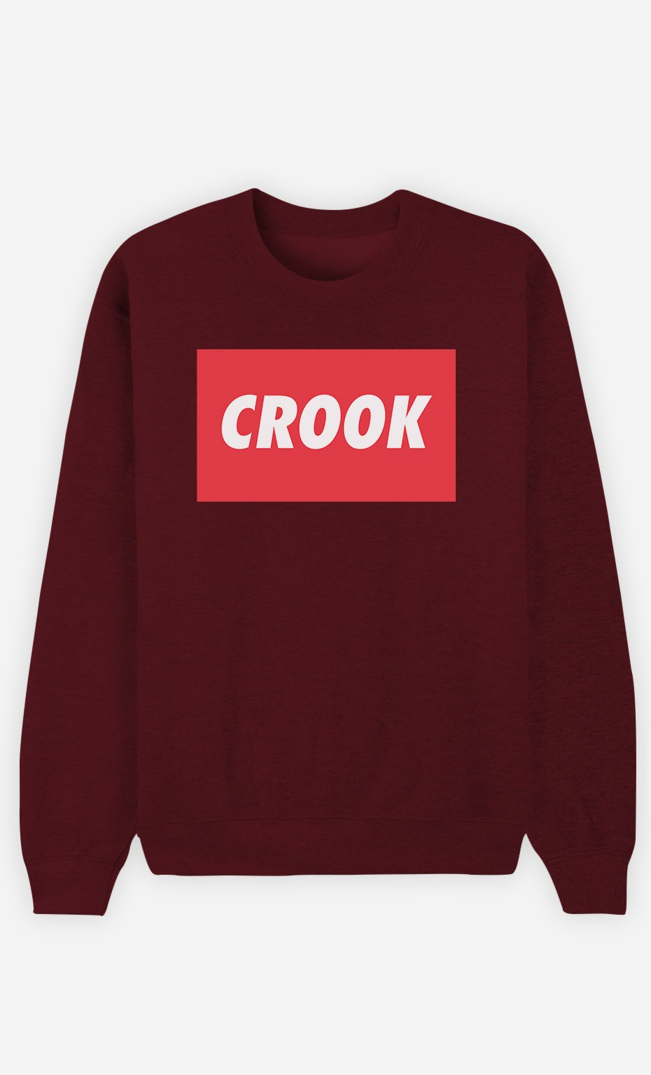 Burgundy Sweatshirt Crook
