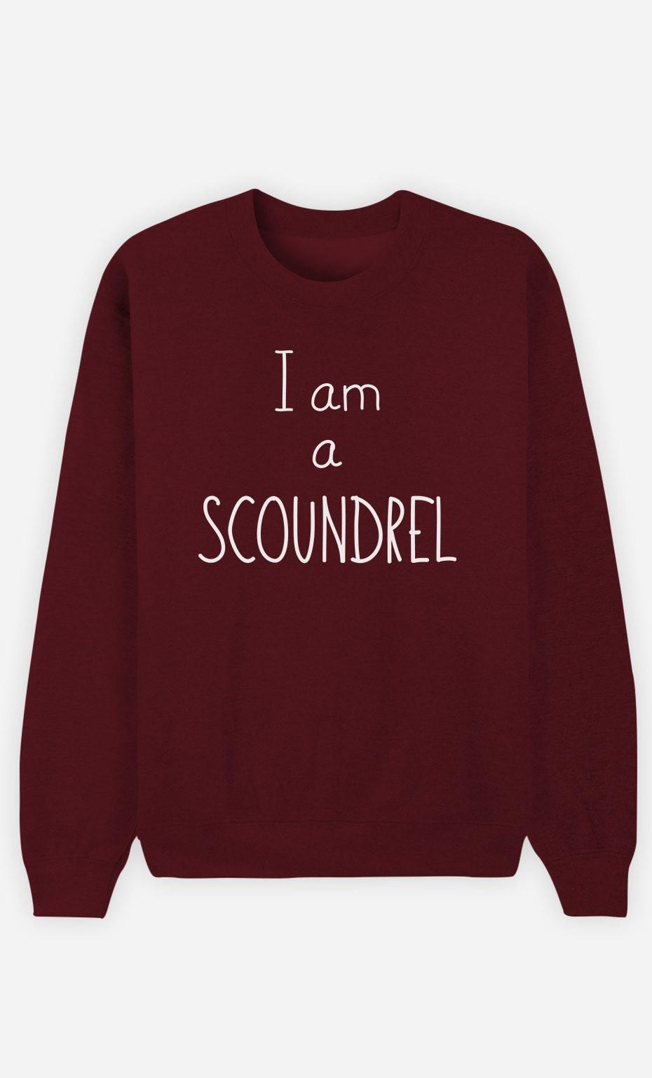 Burgundy Sweatshirt I'm a Scoundrel