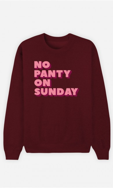 Burgundy Sweatshirt No Panty on Sunday