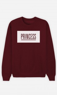 Burgundy Sweatshirt Princess