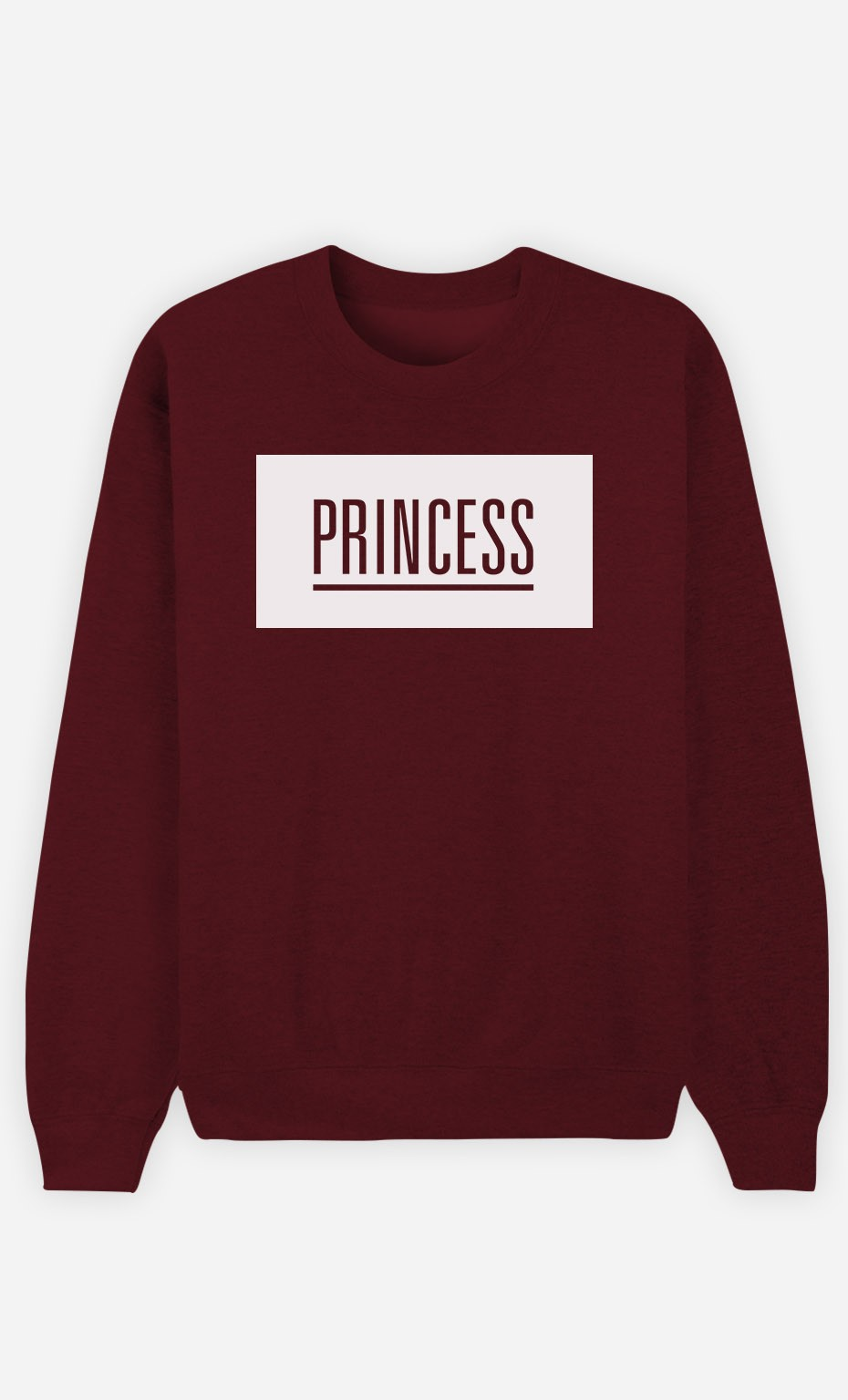 Burgundy Sweatshirt Princess