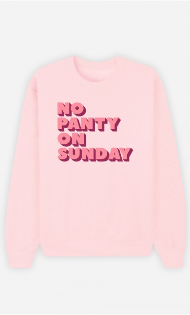 Pink Sweatshirt No Panty on Sunday