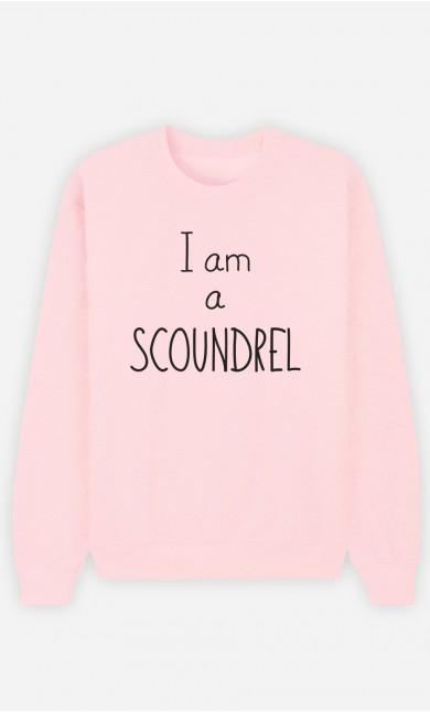 Pink Sweatshirt I'm a Scoundrel