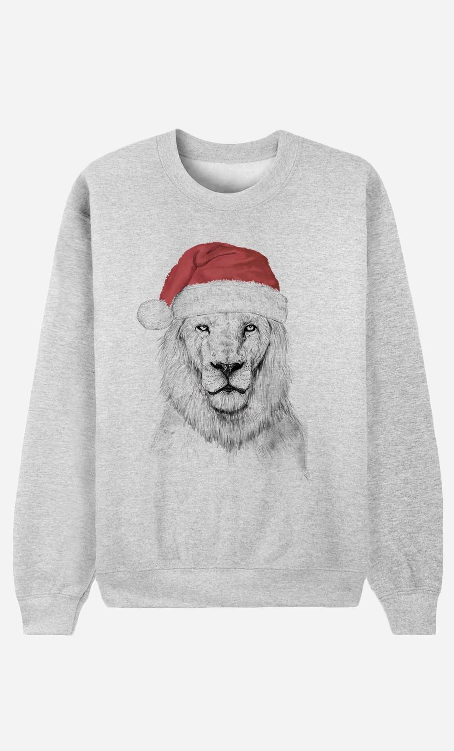 Sweatshirt Santa Lion