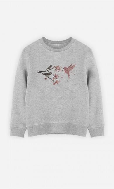 Sweatshirt Blossom Bird