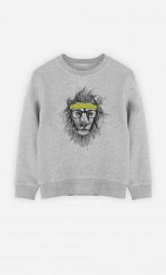 Sweatshirt Hipster Lion