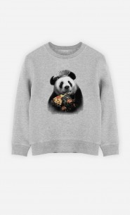 Sweatshirt Panda Pizza