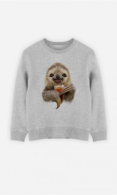Sweatshirt Sloth & Drink