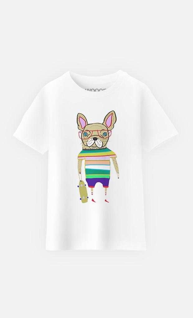 T-Shirt French Bulldog Skater
