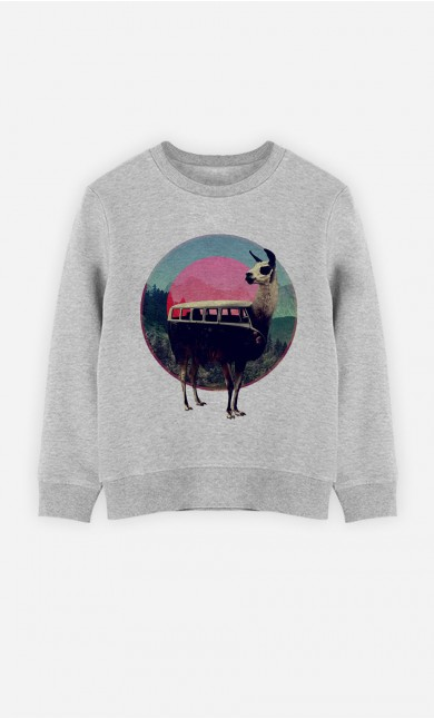 Sweatshirt Combi Llama