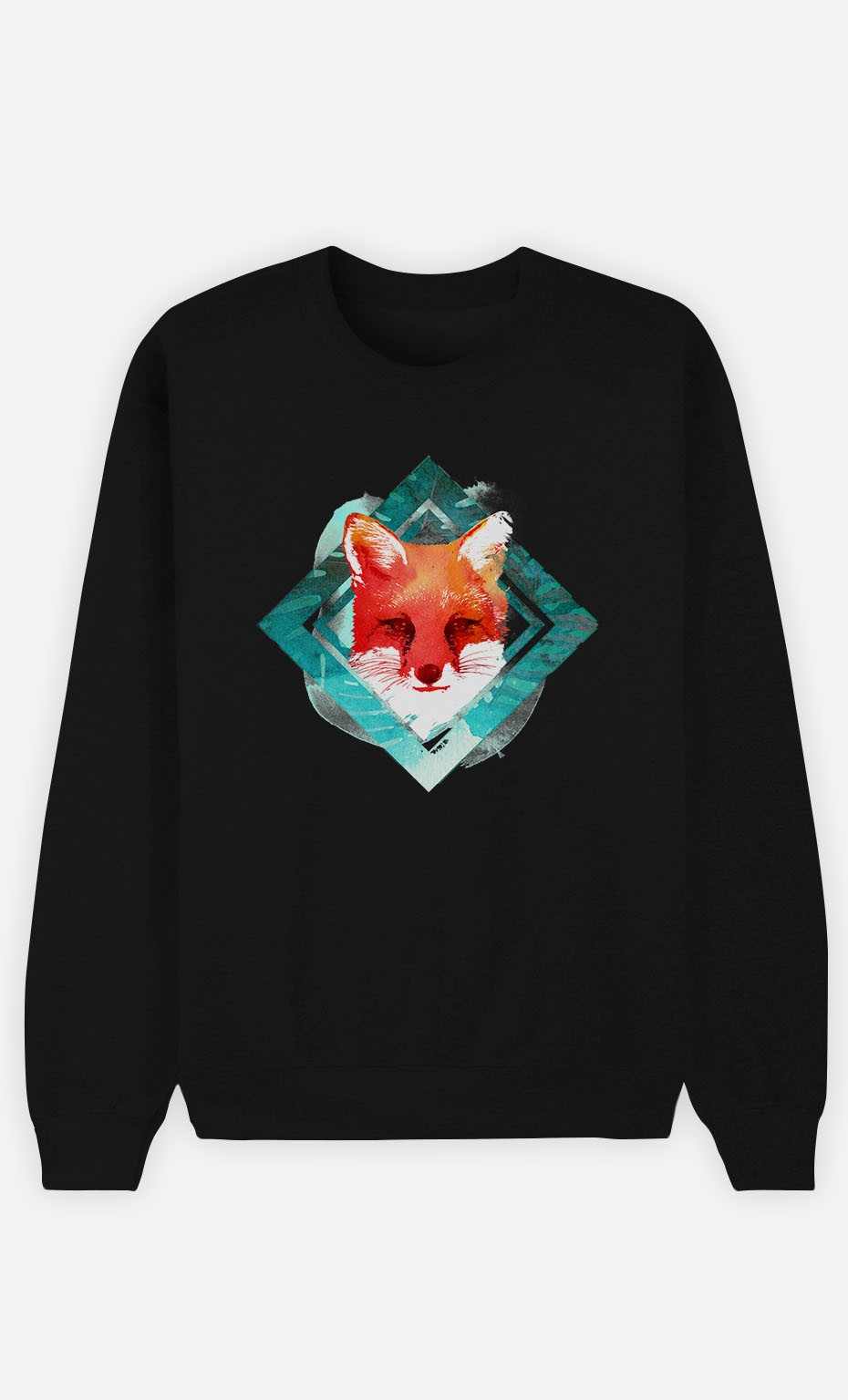 Black Sweatshirt Green Fox