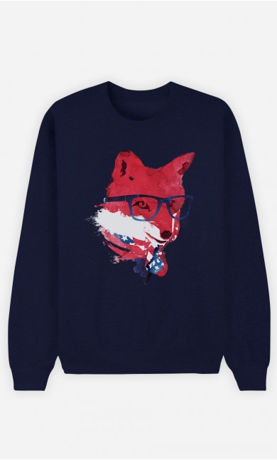 Blue Sweatshirt American Fox