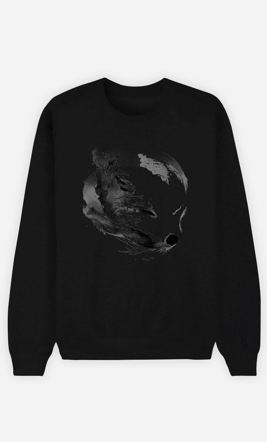 Black Sweatshirt White Fox Alpha