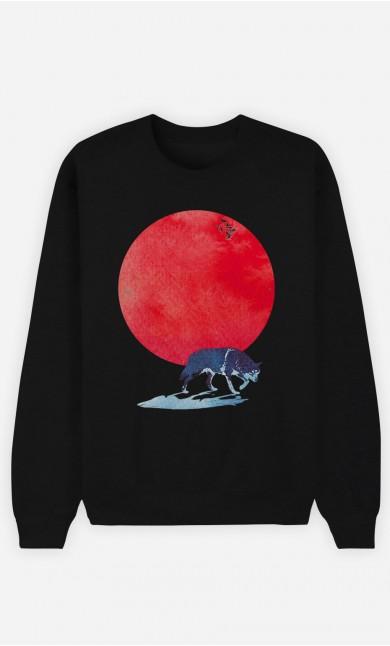 Black Sweatshirt Red Moon