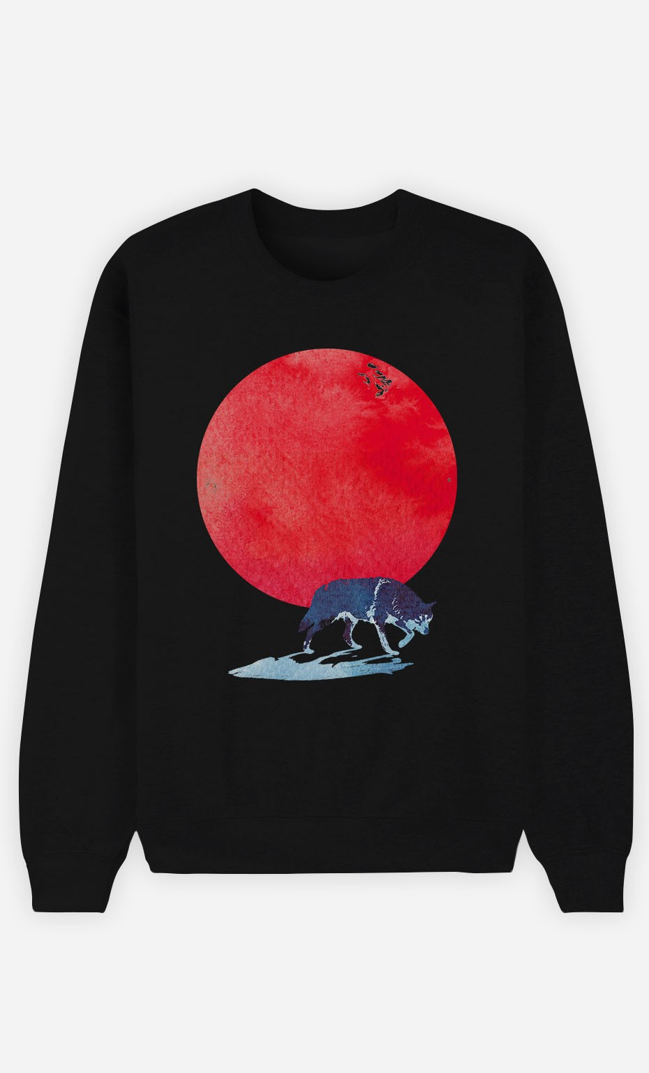 Black Sweatshirt Red Moon