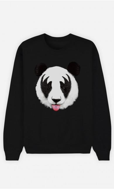 Black Sweatshirt Panda Kiss